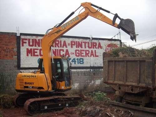 Aluguel escavadeira sp preço